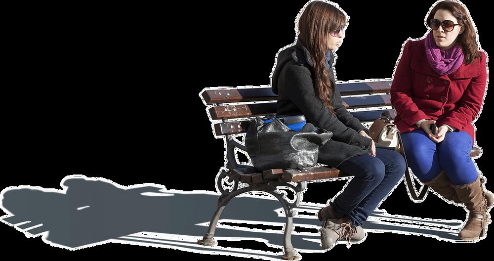 pessoas em png mulheres sentadas no banco