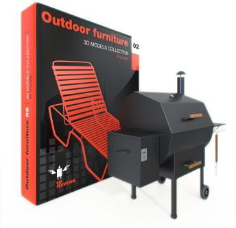 3D Models – mobiliário de área externa