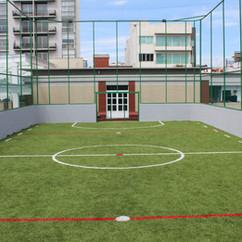 Cancha de futbol en roof garden