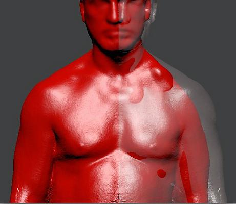 Screen shot of modeling a shoulder prost