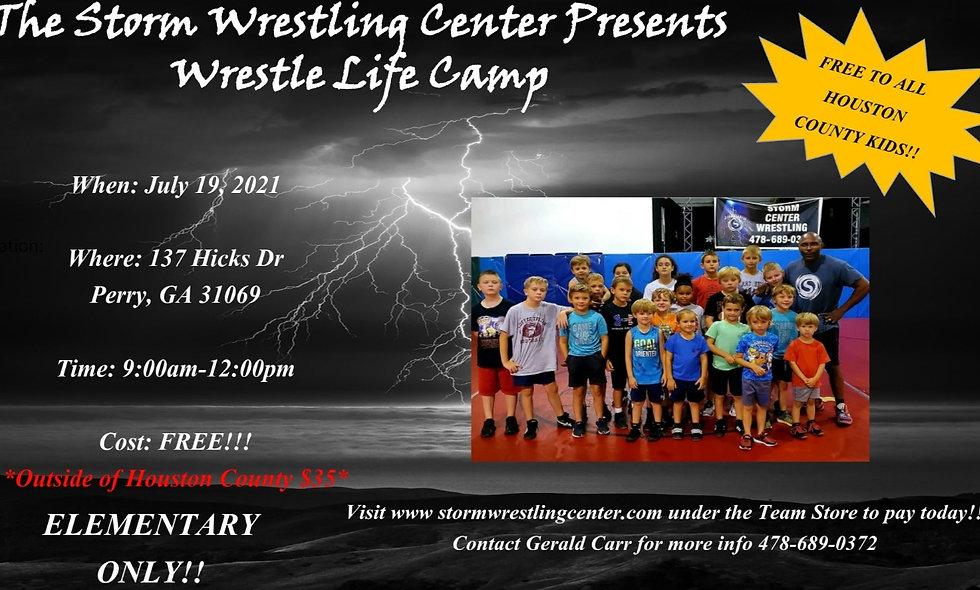 Wrestle Life *FREE* Elementary Camp