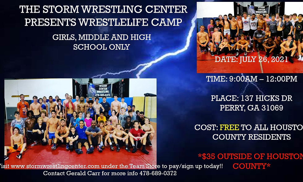 Wrestle Life Girls, Middle, and High School Camp