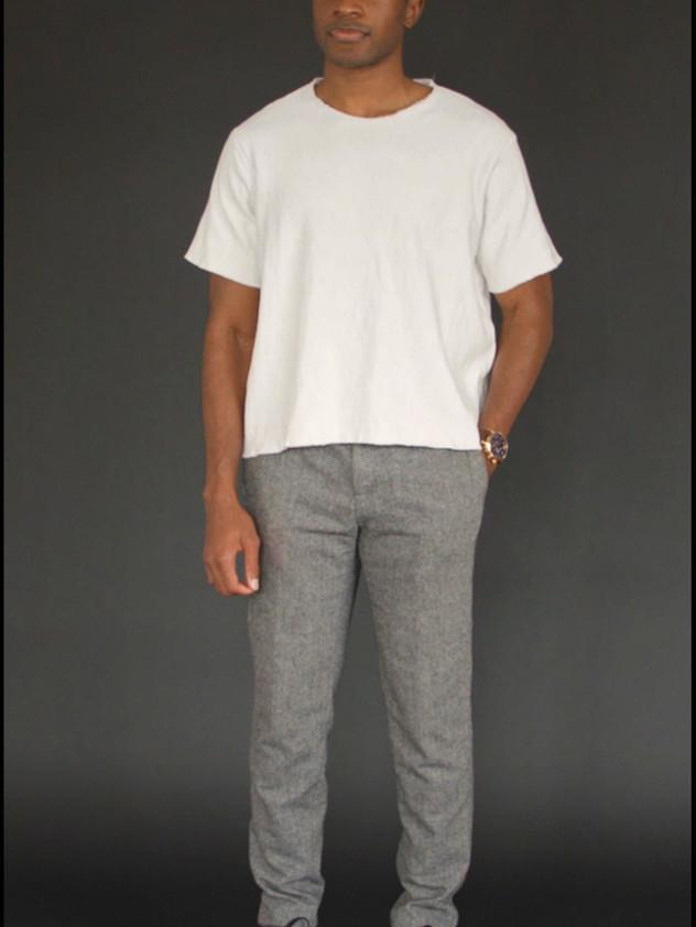 J/T White Crew neck Sweatshirt