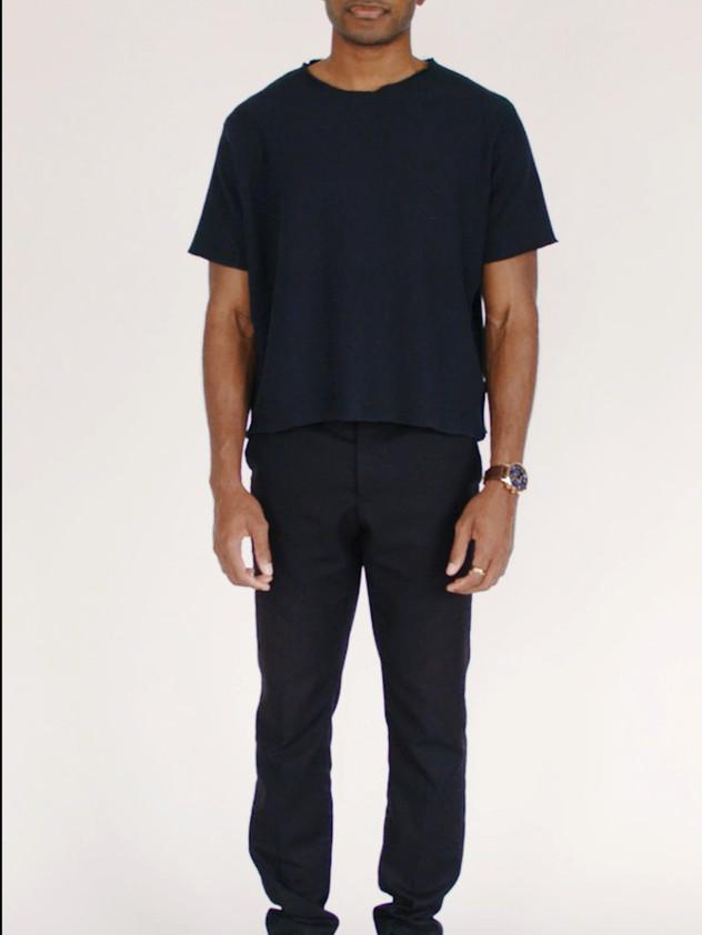 J/T Black Crew neck Sweatshirt