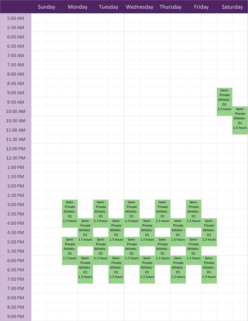 AP Class Schedule