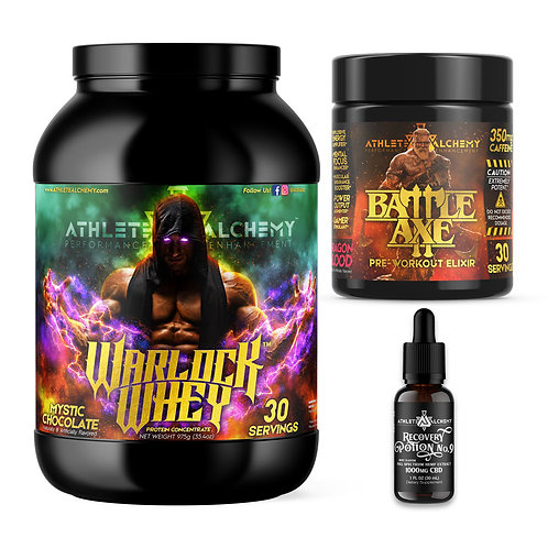 BattleAxe™ + Warlock Whey™ + Recovery Potion No. 9™ Bundle