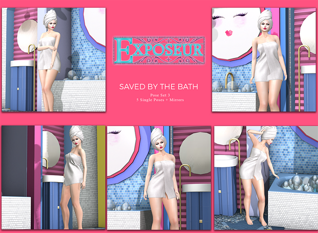 Exposeur Saved by the Bath Pose Set 3