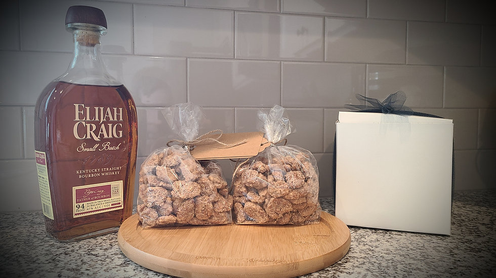 Bourbon Candied Pecans ( 1 bag - 9 oz total weight)