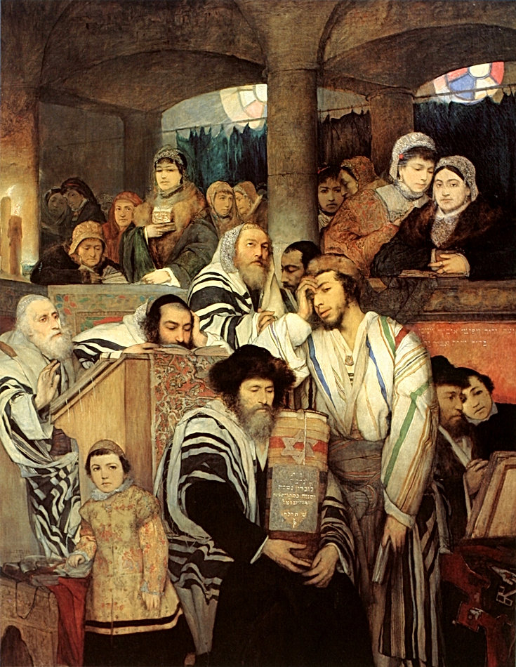 Maurycy_Gottlieb_-_Jews_Praying_in_the_S