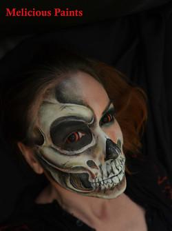 skull facepainting