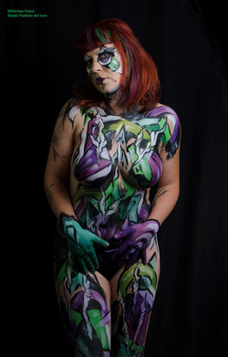 abstract bodypaint graffiti