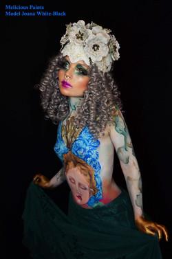 fantasy bodypaint angel headdress