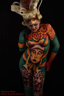 Bodypaint culture buddha Vietnam