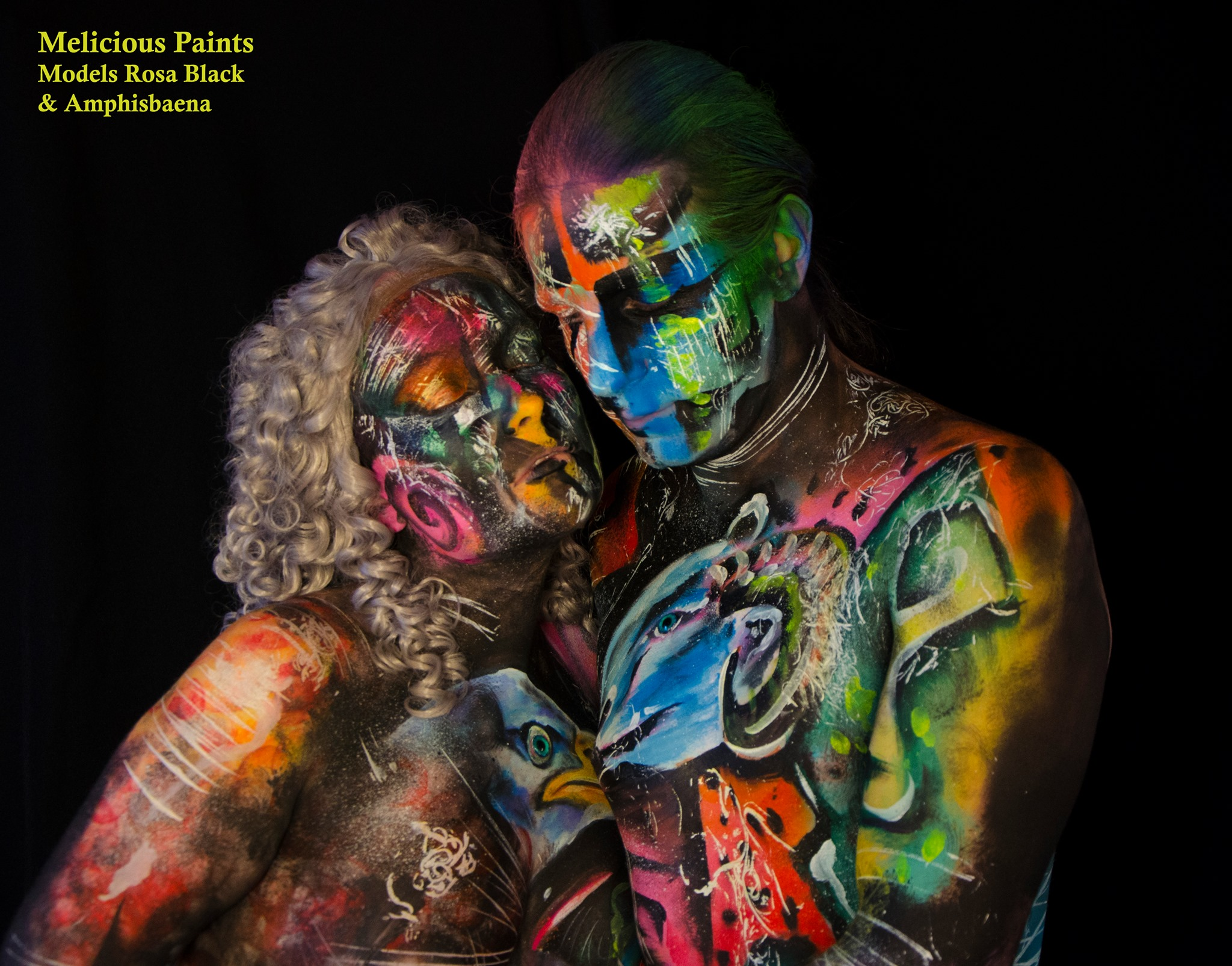 duo bodypaint romantic abstract