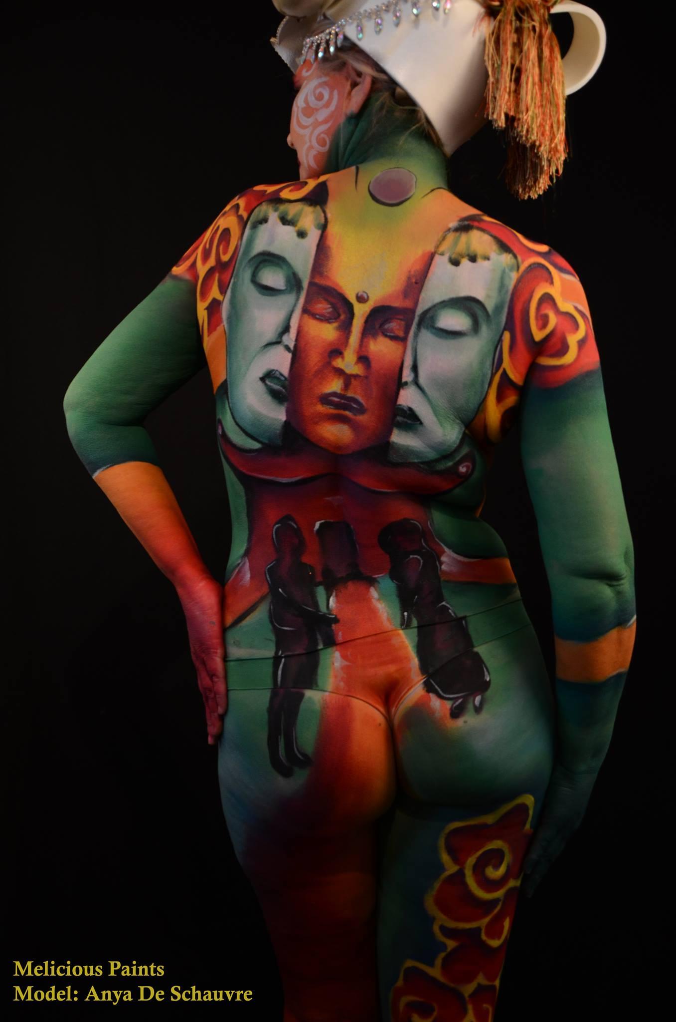 bodypaint Vietnam culture buddha