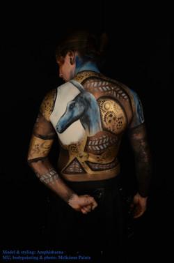 body paint Bastet & Anubis