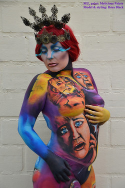 culture bodypaint escape from Egypt Pharaoh Moses