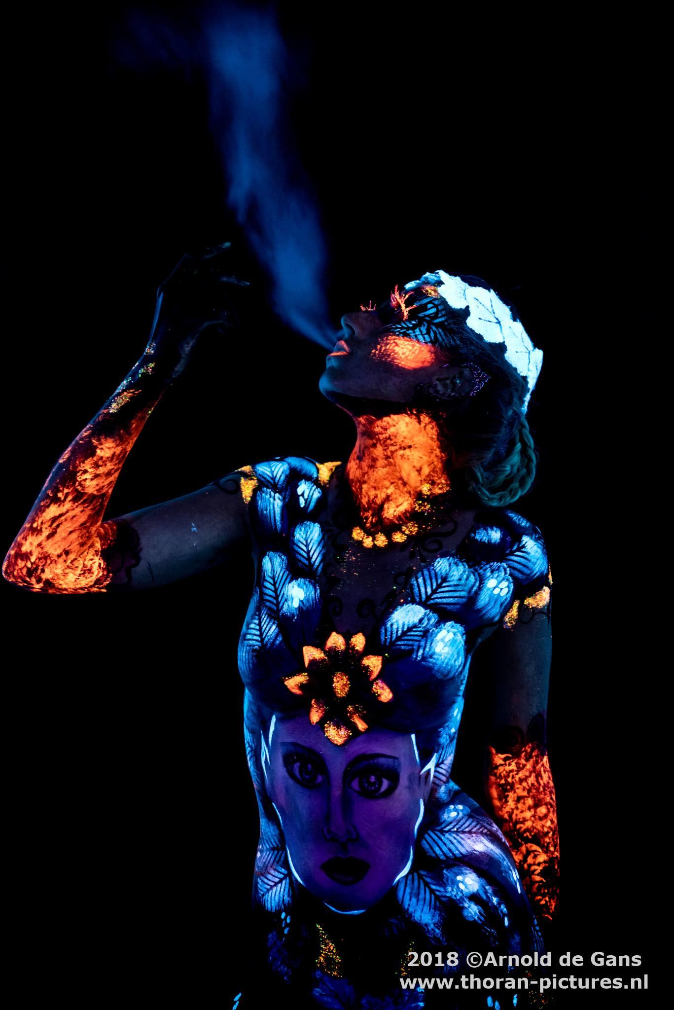 Bodypaint UV fluo