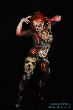 bodypaint Halloween Friday 13th Nightmare on Elm Street