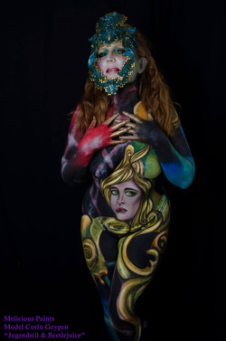 bodypainting headdress Beetlejuice Art N