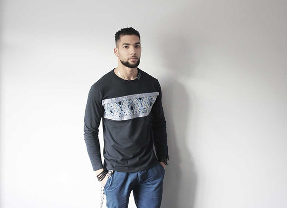 MICOBI Blue long sleeve fitted tee