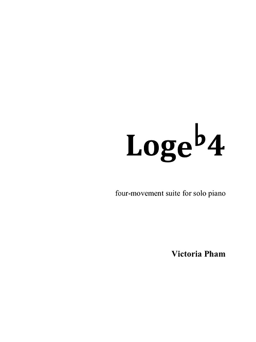 Logeb4: Suite for solo piano