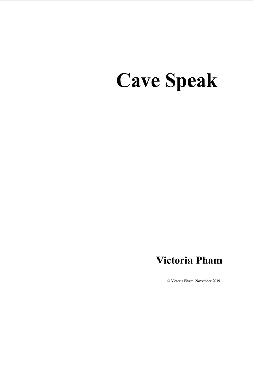 Cave Speak (Full Score in C)