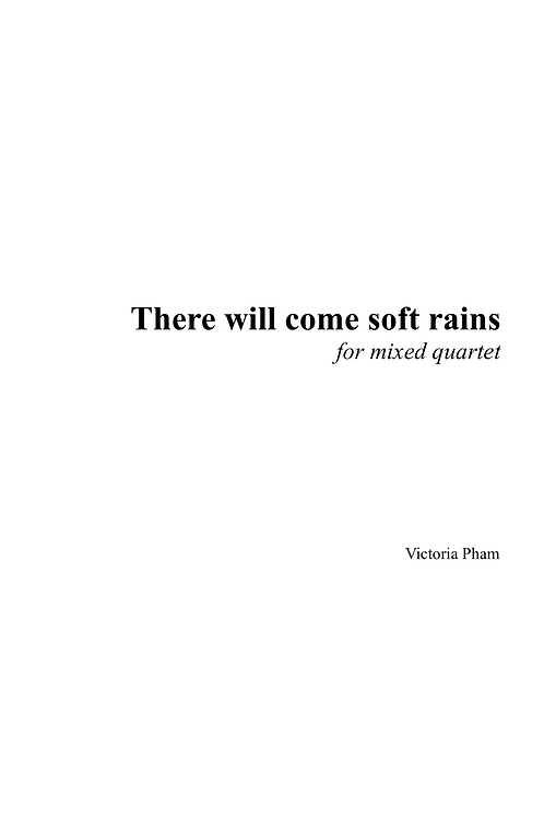 There Will Come Soft Rains (Full Score)
