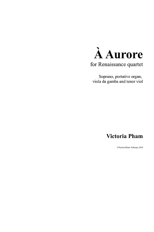 A Aurore - Full Score and Parts