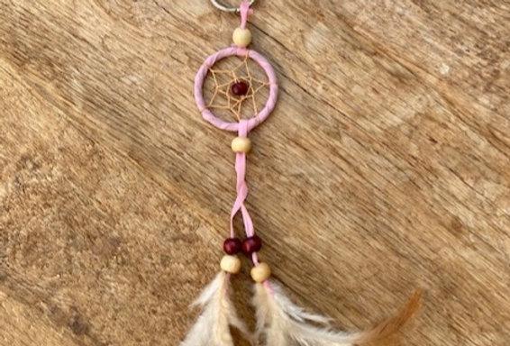 Dromenvanger sleutelhanger roze
