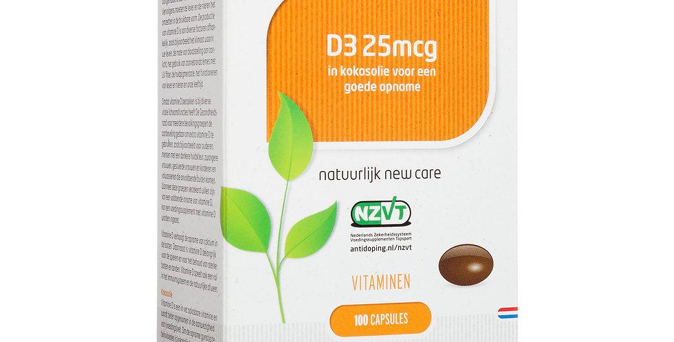 D3 25 mcg 100 capsules