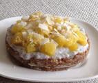 Zomers raw kokos-chia-ananas taartje! (glutenvrij/vegan/geraffineerd-suikervrij)