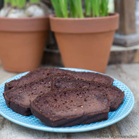 Smeuïge chocoladecake (gluten- en suikervrij/vegan/exorfinevrij)