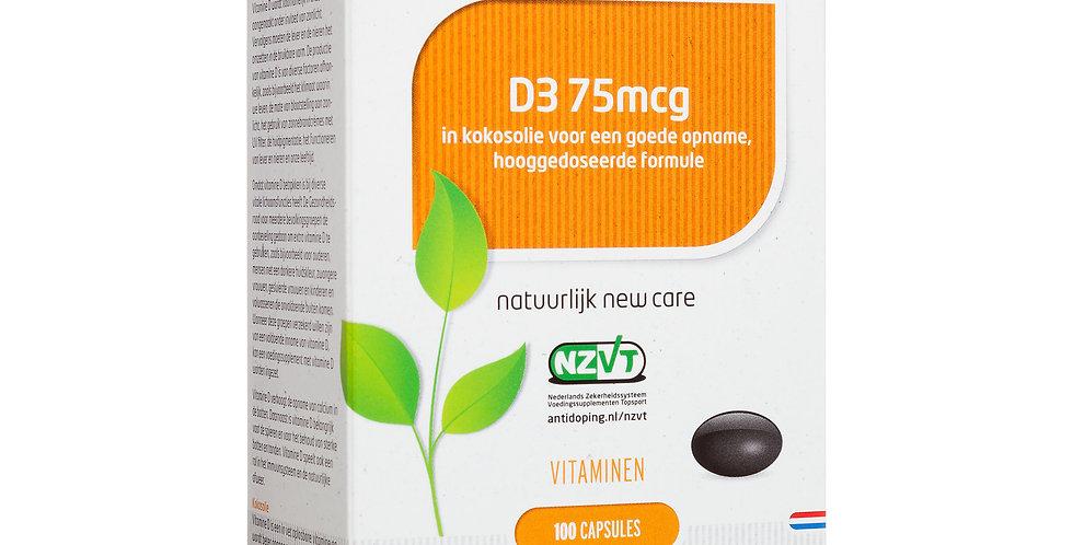 D3 75mcg 100 capsules