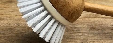 Afwasborstel bamboe wit