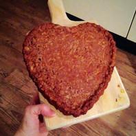 Appel-plaat-koek (glutenvrij/suikervrij/exorfinevrij)