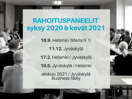 Rahoituspaneelit Jyväskylässä ja Helsingissä - katso päivämäärät ja ilmoittaudu!