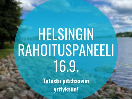 Helsingin rahoituspaneeli 16.9. - Tutustu pitchaaviin yrityksiin!