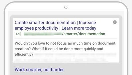 Google Search Mobile Ad