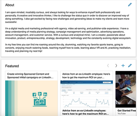 LinkedIn Profile Optimizations