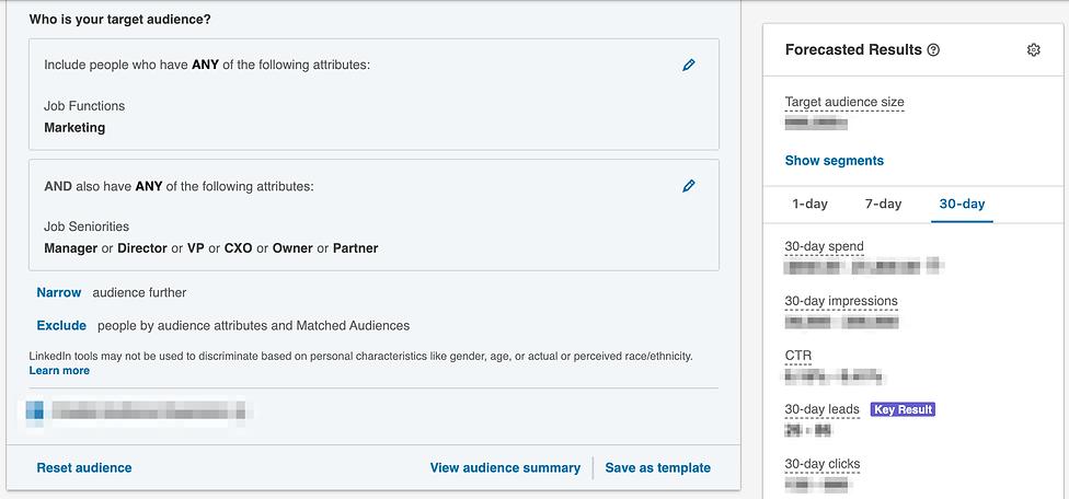 Targeting by job function on LinkedIn