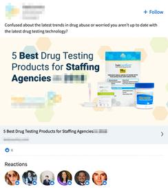 LinkedIn - Pharma Ad 1