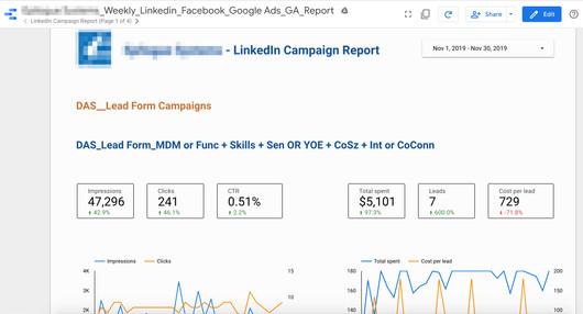 Google Data Studio Campaign Reporting
