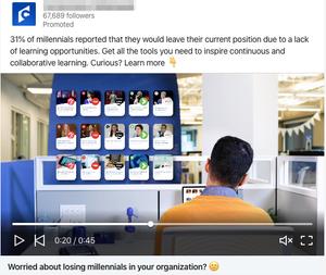 Screenshot example of a LinkedIn ad