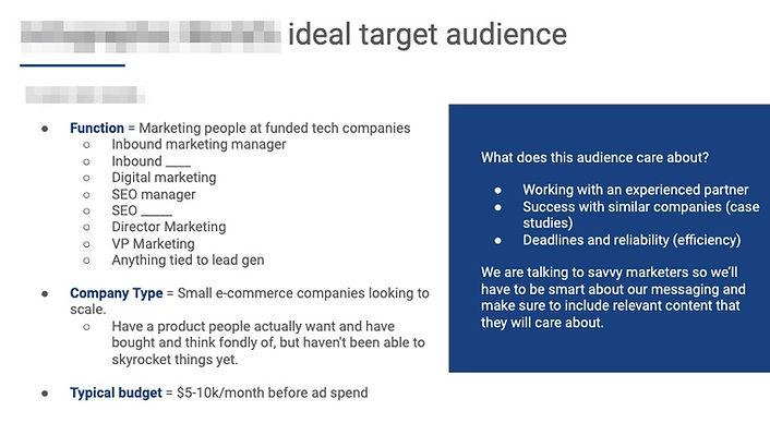 Linkedin Ads Targeting Screenshot Example