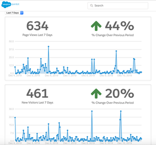 Pardot - Page Views and New Visitors Reporting