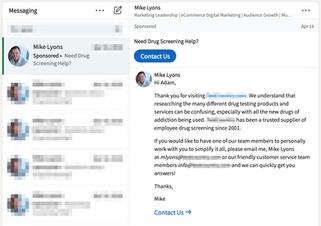 Pharma LinkedIn InMail 1