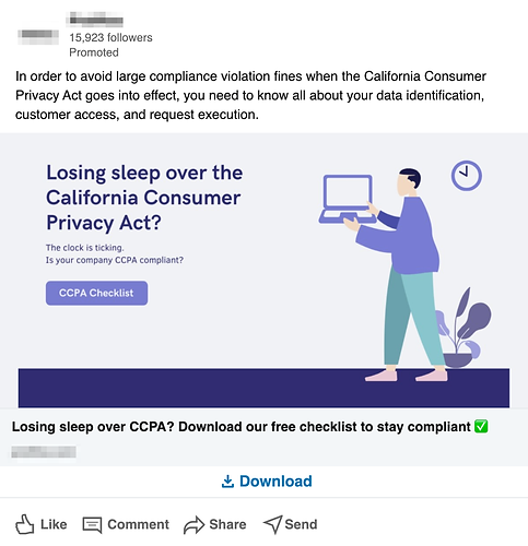 LinkedIn Sponsored Content Lead Gen Ad For An IT Company
