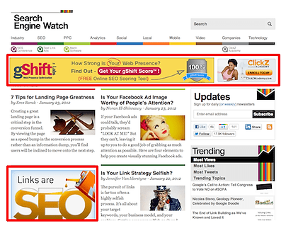 Example of Traditional Display Advertising