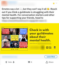 Reddit Mental Health Ad